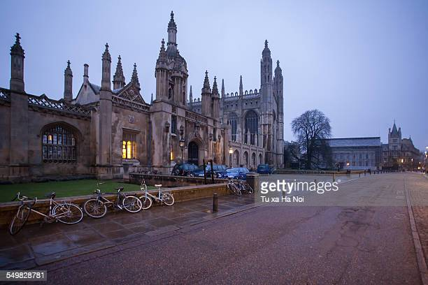 a damp morning in cambridge, england - cambridge university stock pictures, royalty-free photos & images