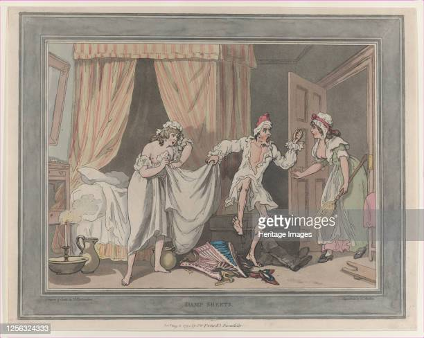 Damp Sheets, August 1, 1791. Artist Thomas Rowlandson, Thomas Malton II.