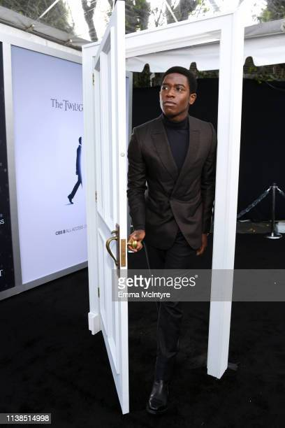 Damson Idris attends CBS All Access new series The Twilight Zone premiere at the Harmony Gold Preview House and Theater on March 26 2019 in Hollywood...