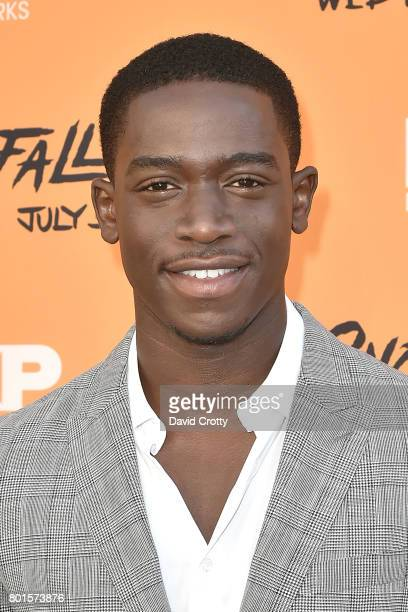 Damson Idris attends the Premiere Of FX's 'Snowfall' Arrivals at The Theatre at Ace Hotel on June 26 2017 in Los Angeles California