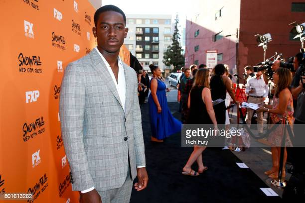 Damson Idris attends the premiere of FX's Snowfall at The Theatre at Ace Hotel on June 26 2017 in Los Angeles California