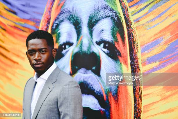 """Damson Idris attends the premiere of FX's """"Snowfall"""" season 3 at Bovard Auditorium At USC on July 08, 2019 in Los Angeles, California."""