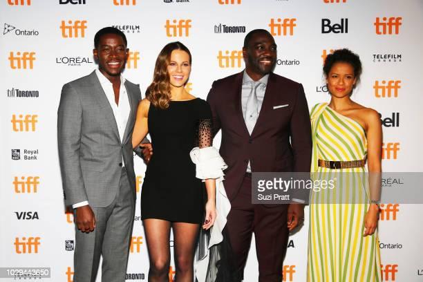Damson Idris Kate Beckinsale Adewale AkinnuoyeAgbaje and Gugu MbathaRaw attend the 'Farming' premiere during 2018 Toronto International Film Festival...