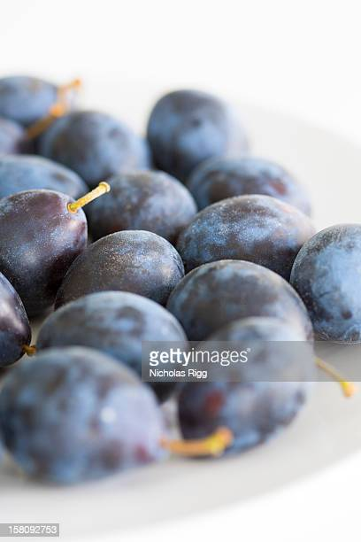 Damsons on a plate