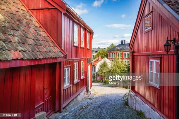 damstredet gatan oslo gamla stan norge - kullersten bildbanksfoton och bilder