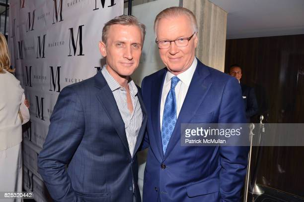 Dan Abrams and Chuck Scarborough attend Magrino PR 25th Anniversary at Bar SixtyFive at Rainbow Room on July 25 2017 in New York City