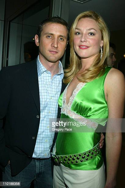 Dan Abrams and Elisabeth Rohm during 2004 Conde Nast Traveler Magazine Hot List Party Arrivals at Hotel Gansevoort in New York City New York United...