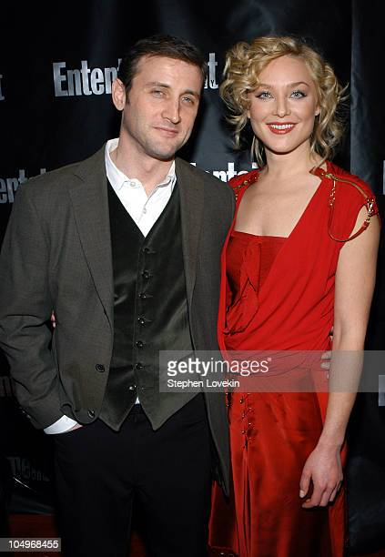 Dan Abrams and Elisabeth Rohm during Entertainment Weekly Hosts 10th Annual Viewing Party at Elaine's in New York City New York United States