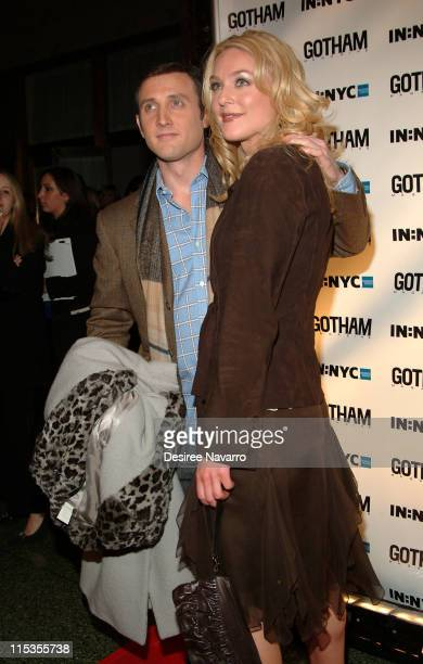 Dan Abrams and Elisabeth Rohm during Gotham Magazine's 5th Anniversary Party at Cipriani's 23rd Street in New York City New York United States