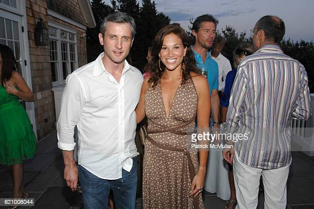 Dan Abrams and Erica Levy attend A Taste of the Good Life with BEST LIFE Sunset Cocktail Party at Private Residence on August 16 2008 in...