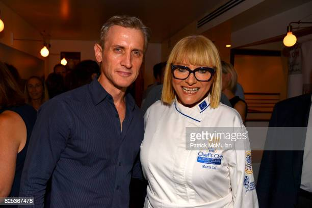 Dan Abrams and Maria Loi attend Michael Gelman Celebrates The Launch Of CLASS MOM A Novel By Laurie Gelman at Loi Estiatorio on July 26 2017 in New...