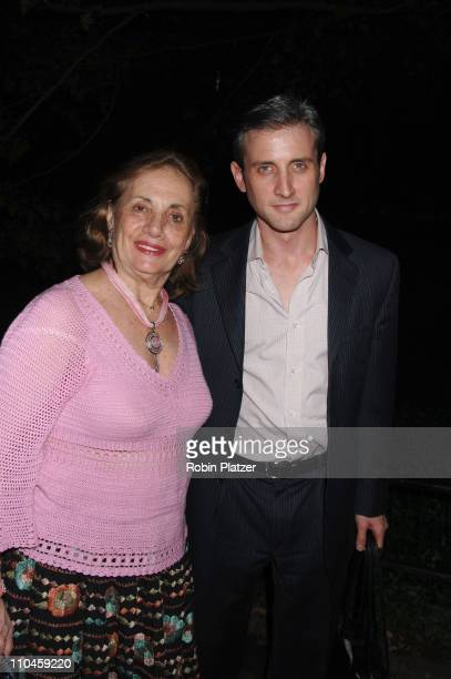 Dan Abrams and mom during The Public Theatres Summer Gala Honoring Meryl Streep and Kevin Kline and Opening Night of MacBeth at Central Park in New...