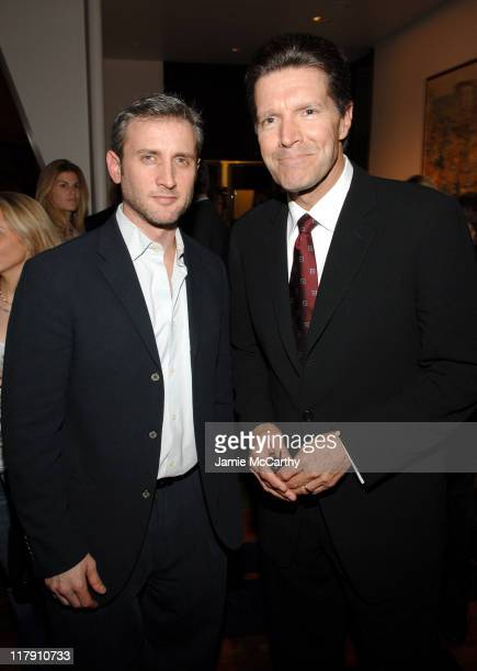 "Dan Abrams and Stone Phillips during ""Bobby"" New York City Screening - Dinner - November 14, 2006 at Le Cirque in New York City, New York, United..."