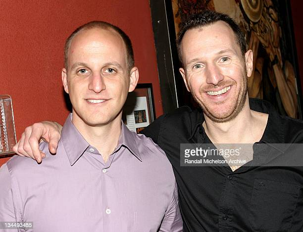 Dan Abrams producer and Greg Lombardo director during 2004 SXSW Festival Knots Premiere at Firehouse Lounge in Austin Texas United States