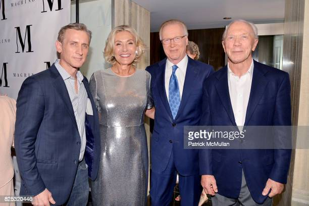 Dan Abrams Susan Magrino Chuck Scarborough and Peter Brown attend Magrino PR 25th Anniversary at Bar SixtyFive at Rainbow Room on July 25 2017 in New...