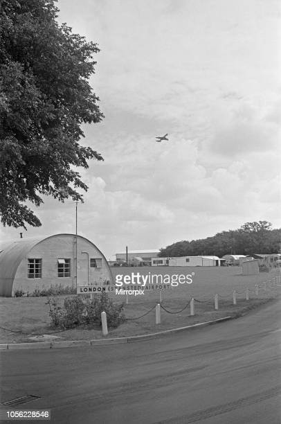 A Dan Air Comet seen here taking off from Stansted Airport 10th August 1964