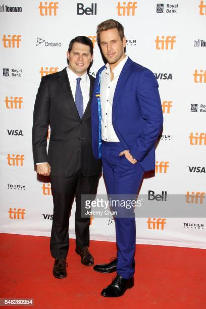 Dan Amboyer and guest attend the 'Brawl in Cell Block 99' premiere during the 2017 Toronto International Film Festival at Ryerson Theatre on...