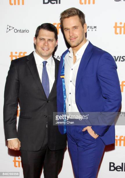 """Dan Amboyer and guest attend the """"Brawl in Cell Block 99"""" premiere during the 2017 Toronto International Film Festival at Ryerson Theatre on..."""