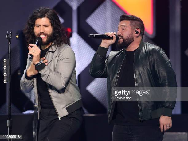 Dan and Shay perform onstage during the iHeartRadio's Z100 Jingle Ball 2019 at Madison Square Garden on December 13, 2019 in New York City.