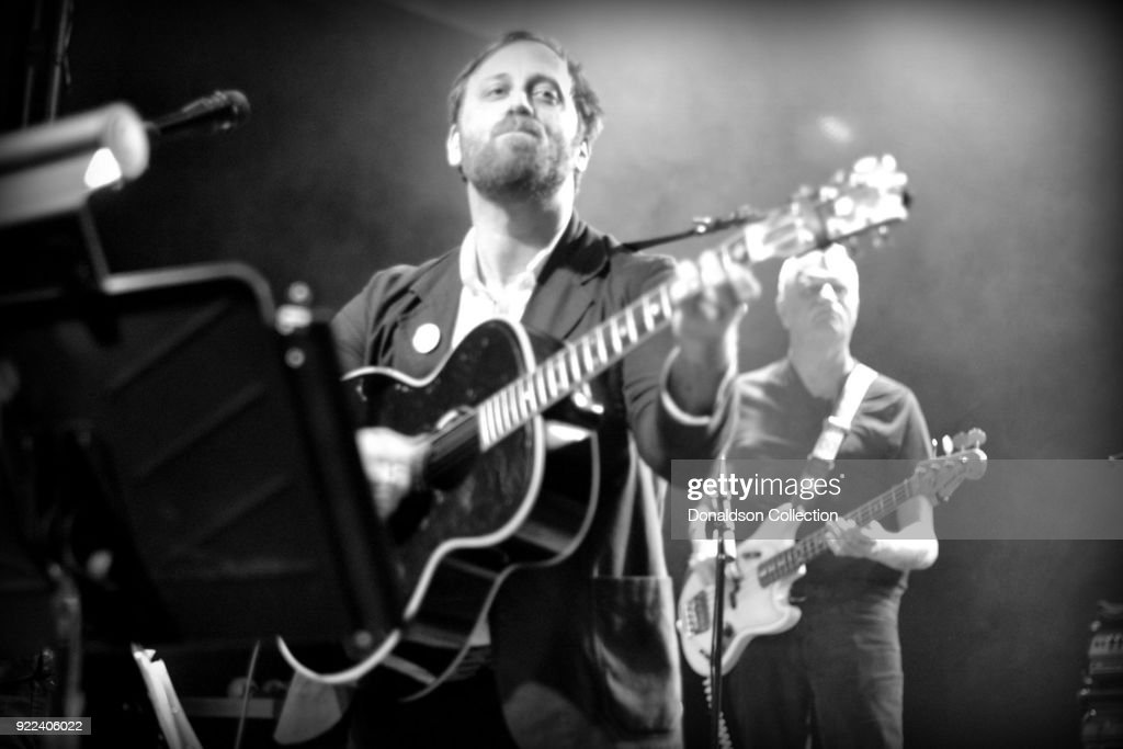 Dan Auerbach and bassist Dave Roe of the rock band 'Dan Auerbach and the Easy Eye Sound Revue' performs onstage at the Obervatory on February 18, 2018 in Santa Ana, California.