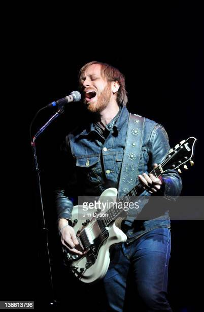 Dan Auerbach of American rock group The Black Keys performs live on stage at Alexandra Palace on February 9 2012 in London United Kingdom
