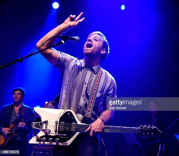 Dan Auerbach of The Arcs performs on stage at The Forum on November 11 2015 in London England