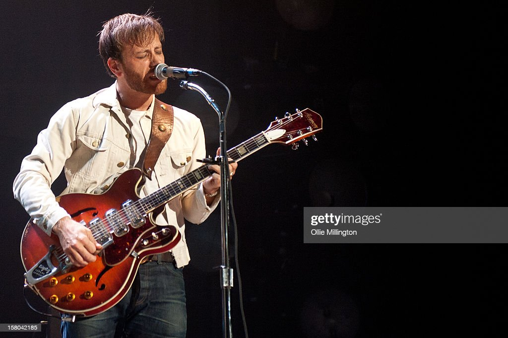 Dan Auerbach of The Black Keys performs during the bands 2012 winter European Arena tour at NIA Arena on December 9, 2012 in Birmingham, England.