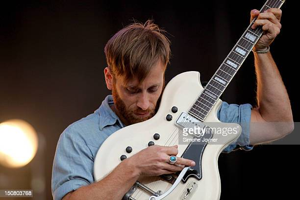 Dan Auerbach of The Black Keys performs live on the Main Stage on Day Three during the Reading Festival 2012 at Richfield Avenue on August 26 2012 in...