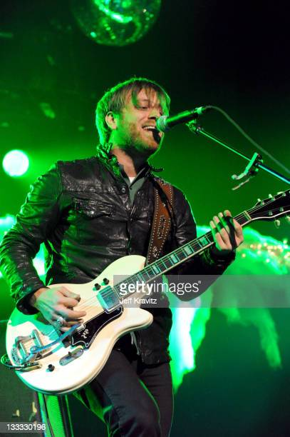 Dan Auerbach of The Black Keys performs on night two of KROQ Almost Acoustic Christmas at Gibson Amphitheatre on December 12 2010 in Universal City...