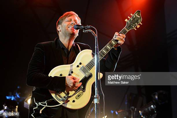 Dan Auerbach of The Black Keys performs on the Obelisk Arena stage at the Latitude Festival at Henham Park Estate on July 20 2014 in Southwold England