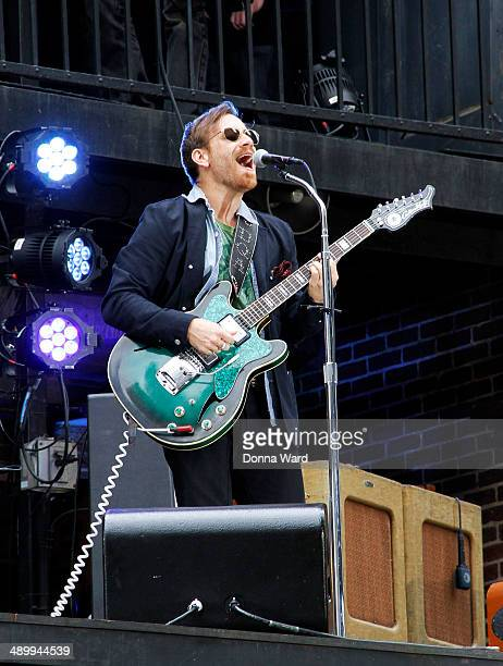 Dan Auerbach of the Black Keys rehearse before taping the 'Late Show with David Letterman' at Ed Sullivan Theater on May 12 2014 in New York City