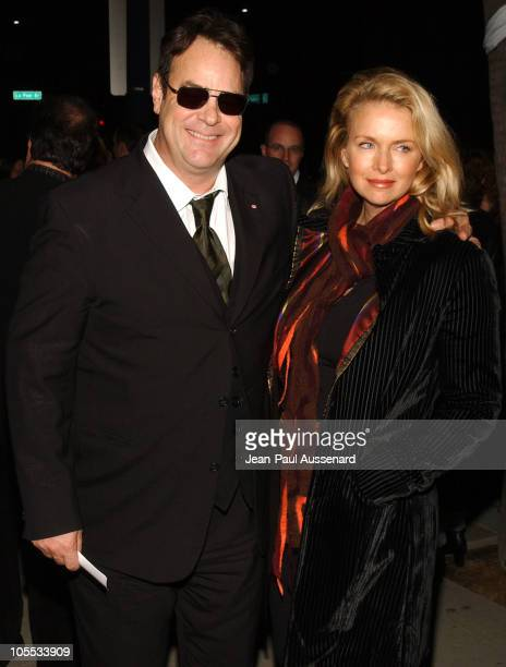 """Dan Aykroyd and Donna Dixon during 20th Century Fox's """"Walk The Line"""" Celebrity Screening - Arrivals at Academy of Motion Picture Arts & Sciences in..."""