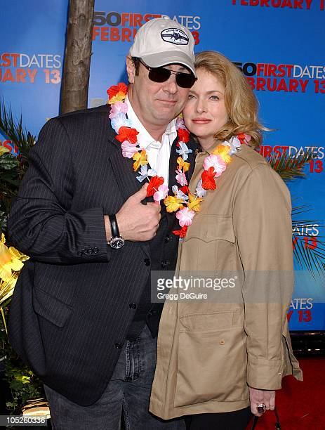 """Dan Aykroyd and Donna Dixon during """"50 First Dates"""" Premiere at Mann Village Theatre in Westwood, California, United States."""