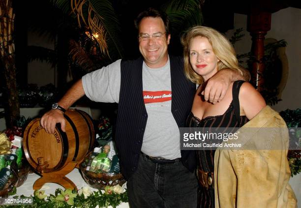 Dan Aykroyd and Donna Dixon during Pre-Emmy Party to Honor John Paul DeJoria's Patron Spirits - September 20, 2003 at Private Residence in Malibu,...