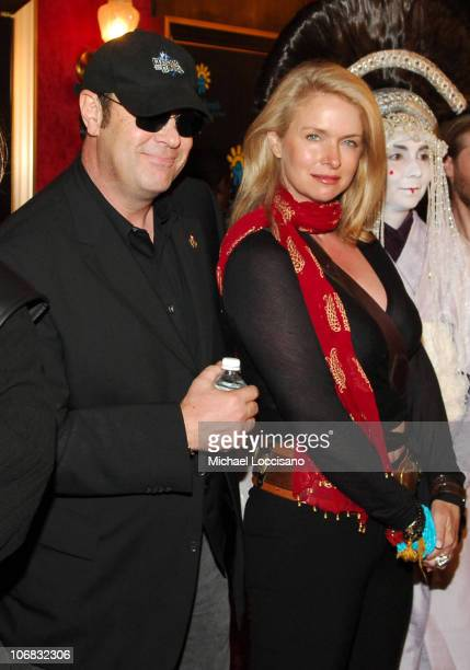 """Dan Aykroyd and Donna Dixon during """"Star Wars: Episode III, Revenge Of The Sith"""" New York City Benefit Premiere - Red Carpet at The Ziegfeld Theater..."""
