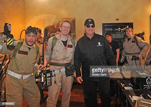 Dan Aykroyd and ghostbusters at the promotion for Crystal Head Vodka at Joe's Canal Discount Liquor on March 19 2010 in Woodbridge New Jersey