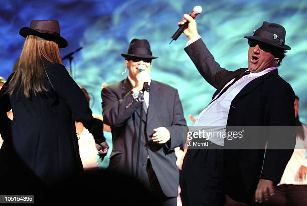 Dan Aykroyd and Jim Belushi during Blues Brothers Perform At The Borgata Hotel Casino Spa at Borgata Hotel Casino Spa in Atlantic City New Jersey...