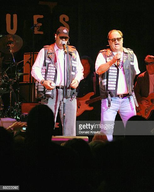 Dan Aykroyd and Jim Belushi perform at the new Atlantic City House Of Blues July 10 2005 in Atlantic City New Jersey