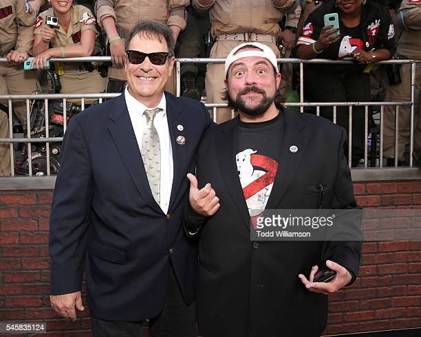 Dan Aykroyd and Kevin Smith attends the premiere of Sony Pictures' Ghostbusters at TCL Chinese Theatre on July 9 2016 in Hollywood California