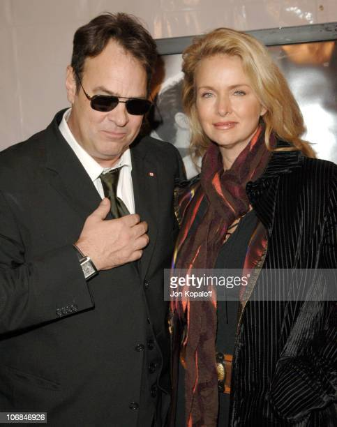 """Dan Aykroyd and wife Donna Dixon during The Motion Picture & Television Fund Presents a Special Screening of """"Walk The Line"""" - Arrivals at Academy of..."""