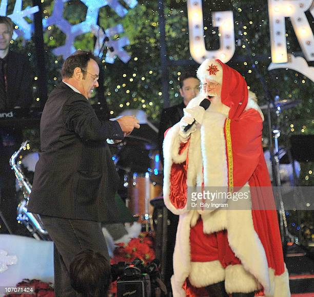 Dan Aykroyd attends the annual Hollywood Christmas celebration at the Grove on November 21 2010 in Los Angeles California