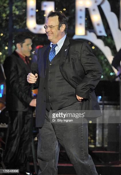 Dan Aykroyd attends the annual Hollywood Christmas Celebration at the Grove at The Grove on November 21 2010 in Los Angeles California