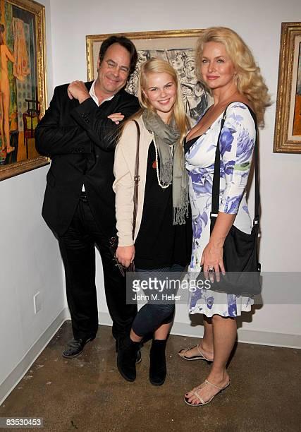 Dan Aykroyd Danielle Aykroyd and Donna Dixon attend the exhibition of Borislav Bogdanovich Impressions on November 1 2008 at Trigg Ison Fine Art...