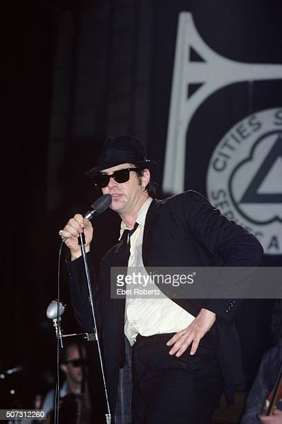 Dan Aykroyd performing with The Blues Brothers at the Palladium in New York City on June 1 1980