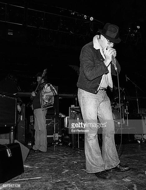 Dan Aykroyd performs during rehearsal for a Blues Brothers concert at Winterland Arena on December 31 1978 in San Francisco California