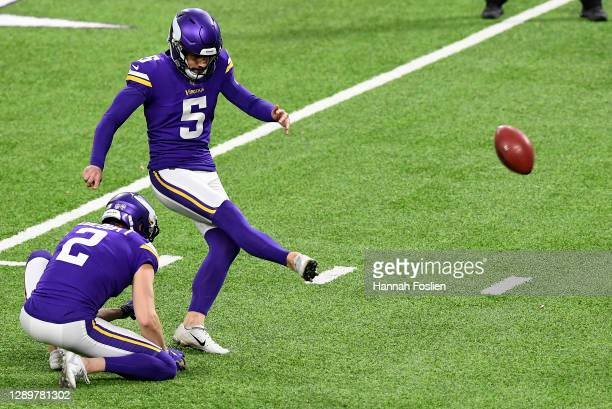 Dan Bailey of the Minnesota Vikings kicked the game winning field goal to give the Vikings the 27-24 win over the Jacksonville Jaguars in overtime at...