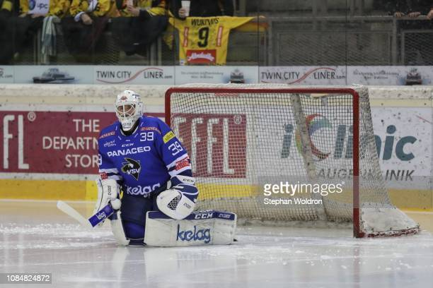 Dan Bakala of Villach during the Vienna Capitals v EC VSV Erste Bank Eishockey Liga at Erste Bank Arena on January 18 2019 in Vienna Austria