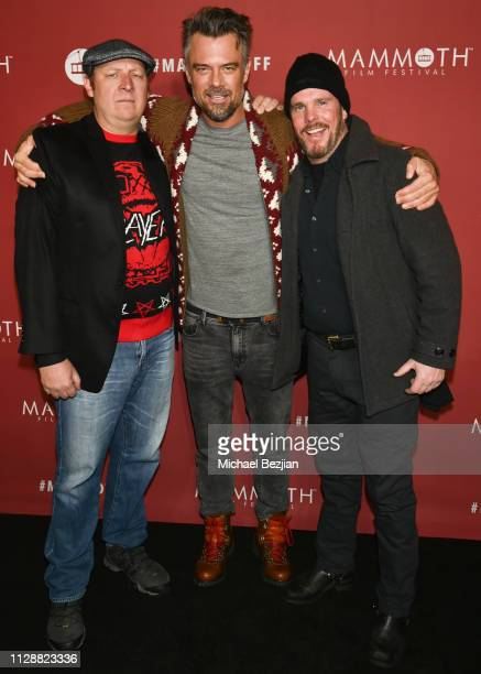 Dan Bakkedahl Josh Duhamel and Kevin Dillon arrive at the premiere of Buddy Games at the 2nd Annual Mammoth Film Festival on February 10 2019 in...