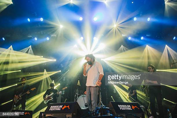 Dan Bejar of Destroyer performs on the Avalon stage during Roskilde Festival 2016 on June 30 2016 in Roskilde Denmark