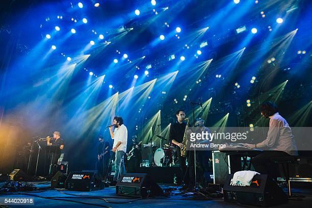 Dan Bejar of Destroyer performs on the Avalon stage during Roskilde Festival 2016 on June 30, 2016 in Roskilde, Denmark.